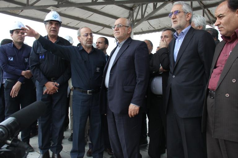 افتتاح چند طرح بزرگ صنعتی توسط مهندس نعمت زاده وزیر صنعت،معدن و تجارت در سفر ریاست محترم جمهوری به استان کرمان(اردیبهشت 95)